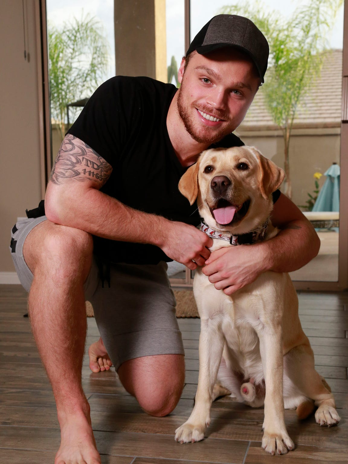 Arizona Coyotes rookie Max Domi's diabetic-alert dog Orion can sniff out when the left winger has low blood sugar.