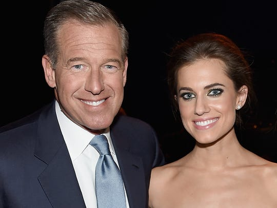 Brian Williams and  Allison Williams in January 2015