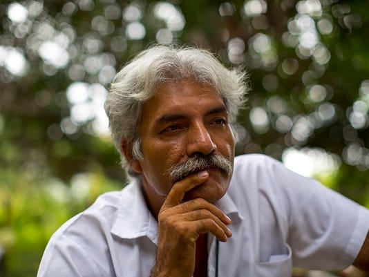 In this Nov. 6, 2013 photo, Doctor Jose Manuel Mireles, leader of his town's self-defense group, pauses during an interview with the Associated Press at his ranch in the town of Tepalcatepec, in the state of Michoacan, Mexico.