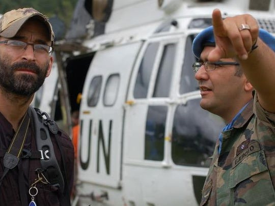 """Michigan filmmaker Mike Ramsdell, left, documentary films includes """"When Elephants Fight,"""" a film that explores the conflict in the Democratic Republic of Congo."""