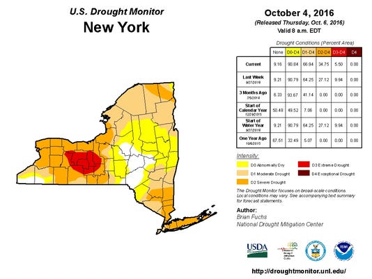 ITH Drought Map Oct. 4 2016