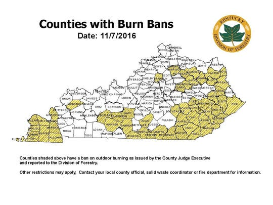 County officials across Kentucky are imposing bans on open burning amid dry conditions and fires burning out of control.