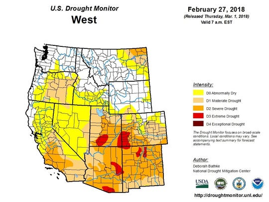 Western drought map