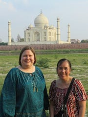 Christine Kadonsky, left, and Mang Thao toured northern India during a recent spring break trip.