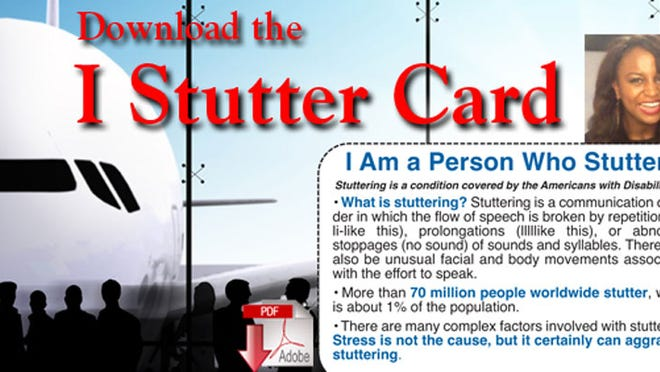 The Stuttering Foundation has made a free ID card available for those who stutter.