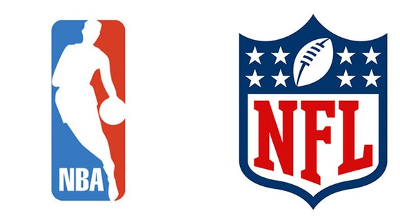 how logos explain difference between nba nfl