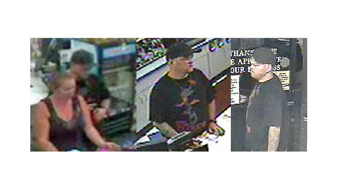 The Reno Police Department released these security camera images of someone using credit cards stolen from a Reno woman.