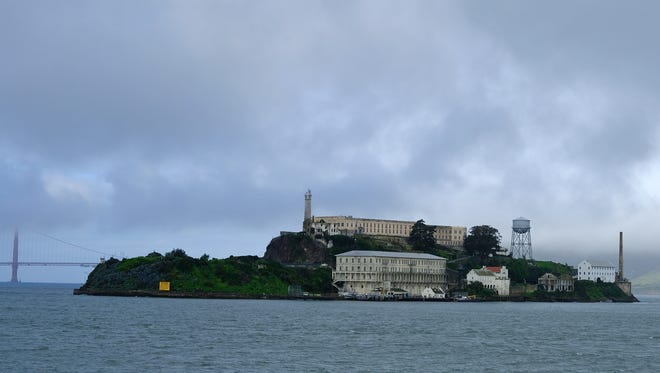 Alcatraz Island is seen Wednesday, March 6, 2019, in San Francisco. Archaeologists have confirmed a long-time suspicion of historians: the famed Alcatraz prison was built over a Civil War-era military fortification.