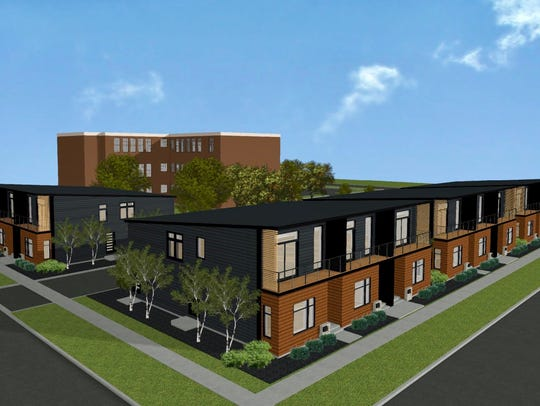 A rendering of the townhouses MKE View plans to build