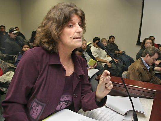 Karen Woodall, seen in this file photo, has lobbied