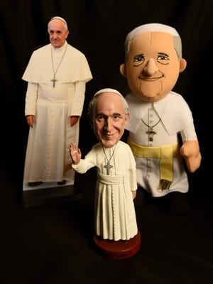 Pope paraphernalia are ready to go on sale for his upcoming visit to the USA.