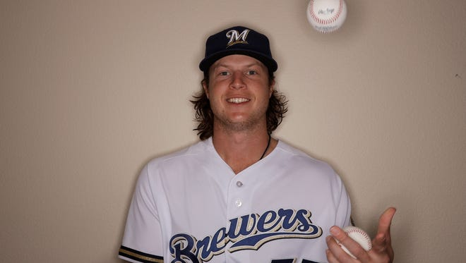 Brett Phillips, who plays at Class AAA Colorado Springs, leads the Brewers' minor-league system in home runs (11), total bases (102) and slugging percentage (.604).