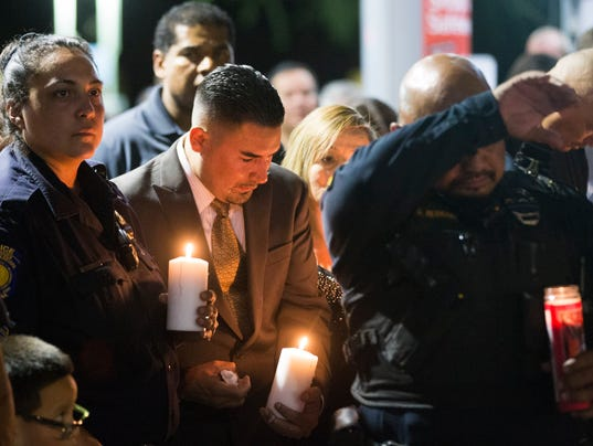 Funeral, vigil for Salt River Officer Jair Cabrera in 2014
