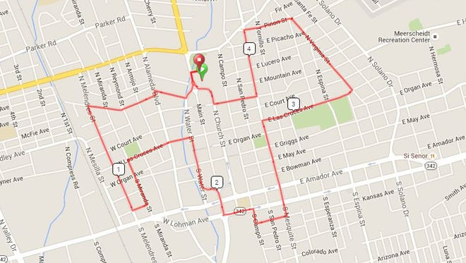 Route of the Mayor's Bike Ride Event on Saturday, May 21.