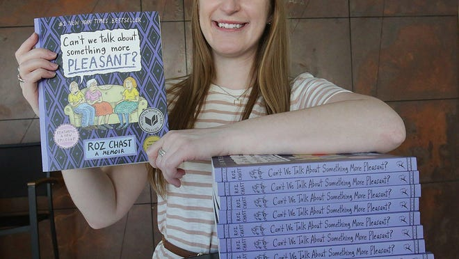 """Stephanie Toole, education and outreach manager at the Massillon Museum, says this year's Big Read book """"Can't We Talk About Something More Pleasant?"""" will resonate with many. Free copies of the graphic novel will be distributed Saturday in the front of the museum."""