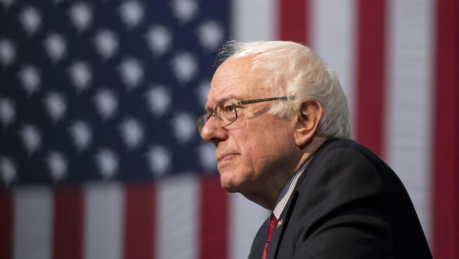 Democratic presidential candidate Sen. Bernie Sanders, I-Vt., pauses while speaking at a rally Friday, Feb. 19, 2016, in Henderson, Nev.