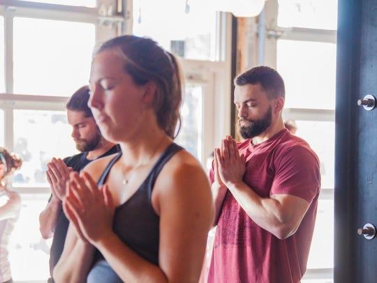 Disko Lemonade holds a yoga class at Perfect Plain