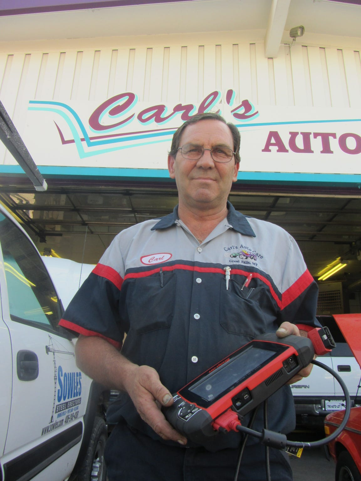 Carl Halcro, owner of Carl's Autocare, 2300 10th Ave.