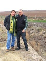Willamette Valley Vineyards founder Jim Bernau tours