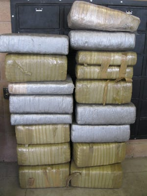 Marijuana seized in the bootheel region over the weekend netted 356.85 pounds with an estimated street value of $285,480.