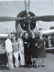 Left to right, WAF/WASP Nancy Batson, WAF/WASP Sis