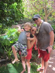 Christine Coppa, Jack and Uncle Carlo in Hawaii, back in 2011.