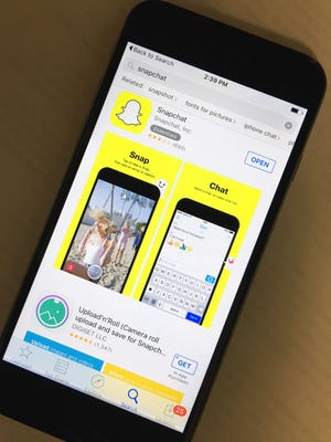 A Snapchat image may be visible for one to 10 seconds but it still can be saved and widely shared.