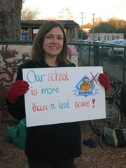 Last month, Hartsfield Elementary supports rally in