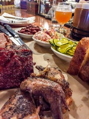 Barbeque platter at Bluebird Barbeque in Burlington