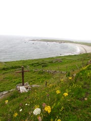 """A driveable """"ring road"""" on Arranmore Island rises to"""