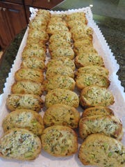 Basil and pistachio cookies by Chef Celia Casey.