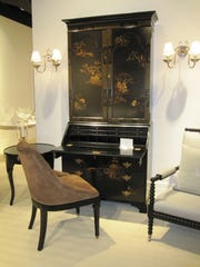 Ralph Lauren offers this commanding Chinoiserie secretary made by luxury manufacturer E.J. Victor.