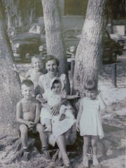 A younger Jean Dierker poses with all four of her children; Richard, David, Deborah, and Diana, who is deceased.