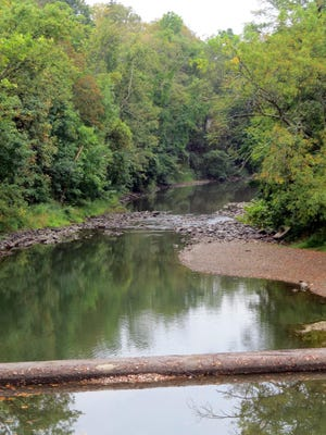 The dam across the Wappinger Creek in Pleasant Valley is shown recently.