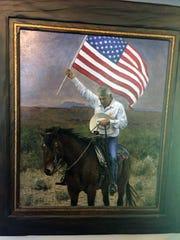 Artist Jon McNaughton's oil painting of Cliven Bundy