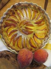 Peach Clafouti by Celia Casey.