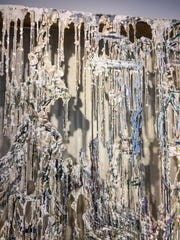 """A detail of """"Blind Spot"""", a work in the exhibit """"Immaterial"""" by Diana Al-Hadid in Burlington on Tuesday, August 8, 2017."""