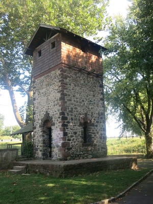 A view of the historic Easton Tower.