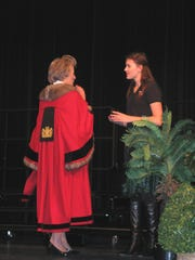 Presentation of the City of Winchester Pin to Student