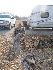 Curtis Severs, Aurora, enjoys camping at the Schell-Osage