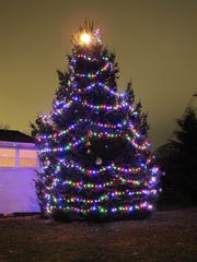 Jerri Blomgren's Christmas wish, all lit up and waiting for her outside her bedroom window in Brandywine Hundred.