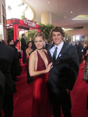 Amy Adams and Nick Goepper  after the  Golden Globes in 2014.