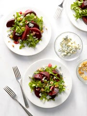 This Warm Beet Salad inspired a meal kit from Produce with Purpose.