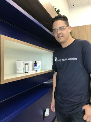 Luis Hernandez, manager, Liberty Health Sciences medical marijuana dispensary in Port St. Lucie, FL.