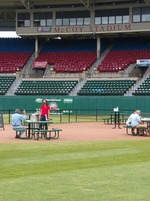 """With the minor league baseball season on hold due to the coronavirus pandemic, the Pawtucket Red Sox have found another use for its home field. Starting June 5, """"Dining on the Diamond"""" will allow PawSox fans and others just longing for a taste of baseball to sample typical ballpark fare on the McCoy Stadium infield."""