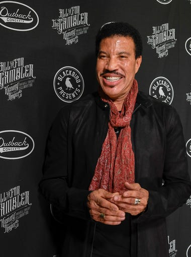 Lionel RIchie poses at the red carpet for the All In For the Gambler tribute to Kenny Rogers at the Bridgestone Arena in Nashville, Tenn., Wednesday, Oct. 25, 2017.