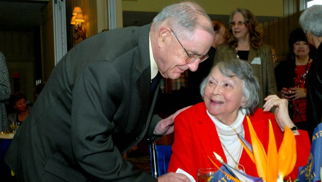 "Former Oregon Victor G. ""Vic"" Atiyeh and his wife Dolores in 2009."