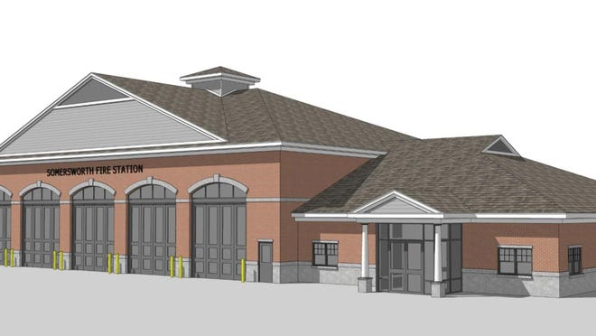 This version of the plans for the new Somersworth fire station doesn't include a three-story hose house. City councilors believe they can find cost savings to incorporate the tower as they search for ways to reduce the estimated $7.73 million project by about $1 million.