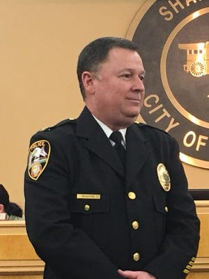Sharonville Police Chief Steve Vanover was sworn in as the city's top cop at a meeting March 27.