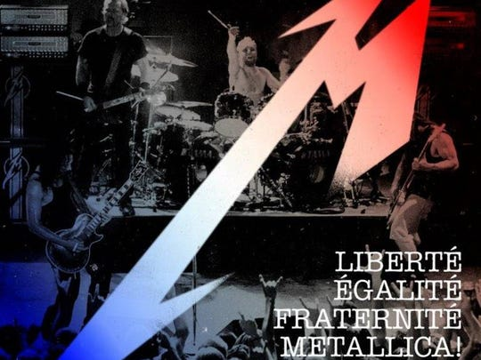 """Metallica will exclusively release """"Liberté, Egalité, Fraternité, Metallica! - Live at Le Bataclan. Paris, France - June 11th, 2003"""" on Record Store Day as a tribute to those killed in last year's terrorist attacks in Paris."""